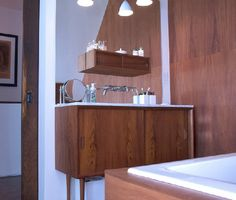 Danish Modern Bathroom.