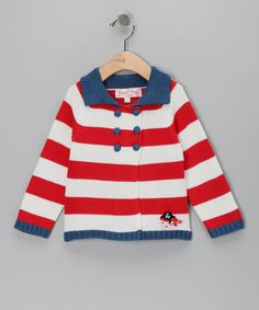 Take a look at this Blue & Red Pirate Cardigan - Infant by Powell Craft on #zulily today!