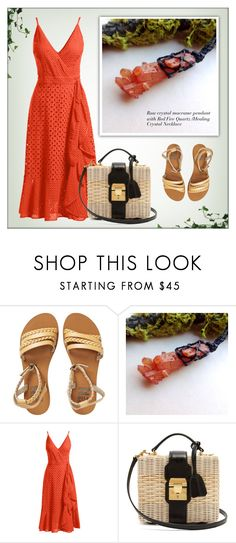 """""""ShungiteJewelryGift - Etsy"""" by monmondefou ❤ liked on Polyvore featuring Billabong, Trina Turk, Mark Cross, jewelry, gemstonejewelry and shungitejewelrygift"""
