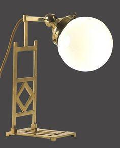Table lamp by Koloman Moser. Brass and glass   WOKA