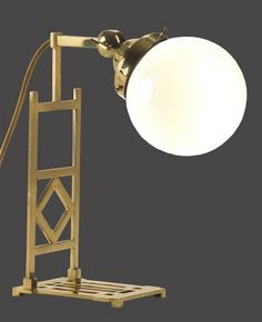 Table lamp by Koloman Moser. Brass and glass | WOKA