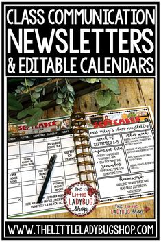 Effective Classroom Communication Newsletters & Calendars #classnewslettertemplate #weeklynewsletter #classroomcommunication