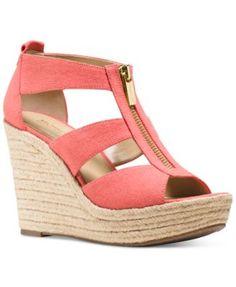 MICHAEL Michael Kors Damita Platform Wedge Sandals   macys.com