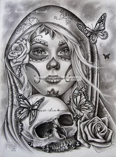 Freund Tattoos - Día de los Muertos 2018 Ich begann dies im Oktober als Tattoo-. - Freund Tattoos – Día de los Muertos 2018 Ich begann dies im Oktober als Tattoo-Design Die… – - Chicano Tattoos, Art Chicano, Skull Rose Tattoos, Body Art Tattoos, Sleeve Tattoos, Sugar Skull Girl Tattoo, La Muerte Tattoo, Catrina Tattoo, Skull Tattoo Design