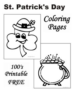 St. Patricks Day Coloring Pages! St. Patrick's Day for