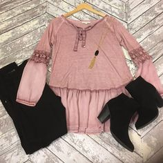 Boho Chic Top We just restock our boho chic top in mauve.  You don't want to miss out on this one. Detailsonlineboutique Tops