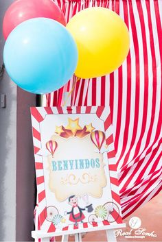 Festa Aniversário | Circo birthday decorations // party decoration ideas // circus Party Decoration, Birthday Decorations, Themed Parties, Ideas, Anniversary Decorations, Birthday Party Decorations