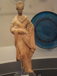 Terracotta figurine of a woman or goddess possibly from a factory at Greek colony of Taranto 3rd century BCE (2)