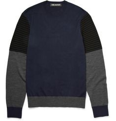 Neil Barrett - Colour-Block Wool Sweater|MR PORTER