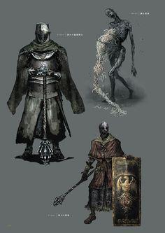 Dark Souls 3 Concept Art - Enemy Concept Art Dark Fantasy, Fantasy Concept Art, Fantasy Armor, Medieval Fantasy, Dark Souls 2, Character Art, Character Design, Armadura Medieval, Soul Art