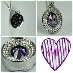 Belle Morte Beauty Blog Competition – Amethyst Silver Pendant Necklace Giveaway. The rich oval Amethyst coloured and faceted Cubic Zirconia centre stone is surrounded by 50 individually hand placed white diamond colour Preciosa crystal elements. The entire Amethyst Pendant Necklace is very beautifully finished in flawless platinum tone.