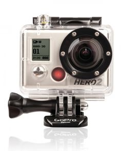 THIS IS AT THE TOP OF MY BUCKET LIST!! - Go Pro HD Hero2 Outdoor Edition Camera  For the outdoors adventurer, this compact, mountable camera is perfect for kayak trips down a rushing river or a summer camping trip in the wilderness. Fully waterproof, it captures 170-degree-wide angles and comes equipped with mounting accessories.    $299.99, gopro.com
