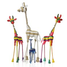 These eye-catching gerries will bring playfulness and cheer to any room.  Each giraffe is unique, handcrafted from wire and adorned with a wrapping of beautiful rope.  Available in sizes 50cm, 70cm, 90cm and 120cm, in marine, funky, natural colour schemes.