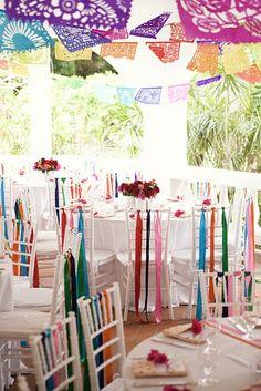 Bright and Colorful Hispanic Wedding Decor Inspiration.