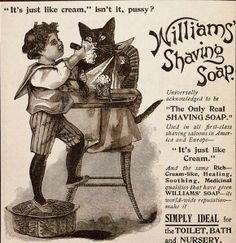 Innocent times when  a boy could shave a pussy and no one would think anything of it:)
