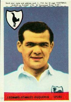 Guernsey born Tottenham Hotspur star Len Duquemin in 1958. Spurs Fans 323d6e771