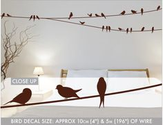 Birds on a Wire Wall Decals Personalized Gifts For Kids, Types Of Painting, Gifted Kids, Blank Walls, Letter Wall, Concrete Wall, Bright Stars, Do It Yourself Home, Ideas