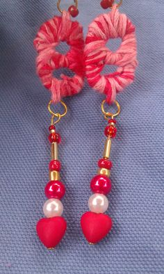 Recycled beverage can tabs dangle earrings GO by DoubleDzBeadz, $2.00