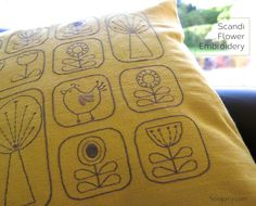 Scandi Style Embroidery - free flower patterns & tutorial - Hoogally