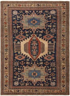 Antique Persian Heriz Rug 45893 Detail/Large View - By Nazmiyal