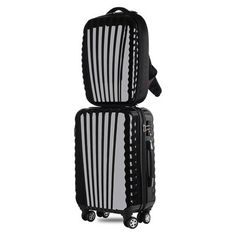 20 inch boarding luggage+hard shell backpack,fashion waterproof computer bag,wheels trolley suitcase,travel Customs password box