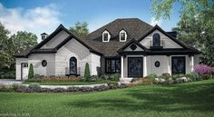 """most popular articles of """"HOMEARAMA® Rivercrest"""" -- Thousands of people traipsed through the five impeccably decorated homes during the 2017 Homearama in Popular Articles, Home Trends, Inspired Homes, Black Trim, Exterior Colors, Cincinnati, Modern Farmhouse, House Plans, Sweet Home"""