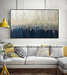 Large Abstract Oil Painting Gold Leaf Silver Leaf Art Wall Decor Modern Art Original Painting textur