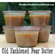 Old Fashioned Pear Butter | One Hundred Dollars a Month