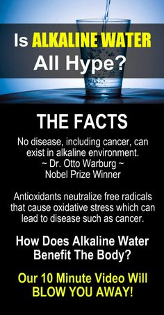 IS ALKALINE WATER ALL HYPE? Antioxidants neutralize free radicals that cause oxidative stress which can lead to disease such as cancer. How does alkaline water benefit the body? Our 10 minute video will blow you away! #Alkaline #Water #Health #Benefits
