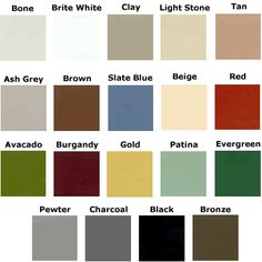 Tuff Shed Color Chart Tuff Shed Designs