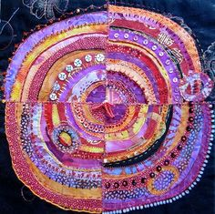 "Recyled Circles is a fabric class presented by Jane LaFazio who wrote about this technique in ""Cloth Paper Scissors"" magazine in March 2009."