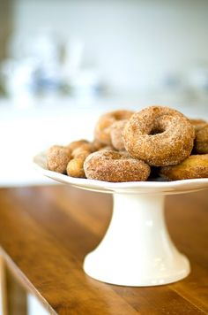 Baked Apple Spice Donuts  - (uses whole wheat pastry flour) --  The Bikini Baker