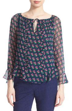 DIANE VON FURSTENBERG 'Simonia' Floral Print Silk Top. #dianevonfurstenberg #cloth #