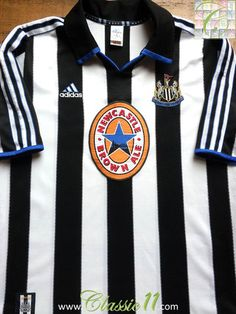 Relive Newcastle United's 1999/2000 season with this vintage Adidas home football shirt.