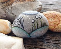 Hand Painted Rock Being  They Brought the by QueenofArtsStudio, $16.50