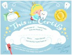 Free Hallmark Tooth Fairy Certificate