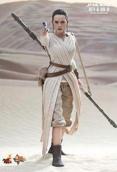 Action Figures Perfeitas Hot Toys Star Wars VII: Rey e BB-8 « Blog de Brinquedo