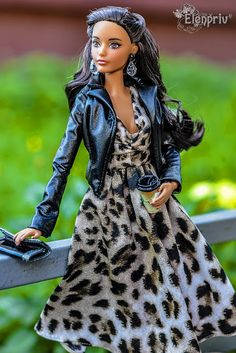 Barbie on Pivotal body in leaopard printed dress by Elenpriv