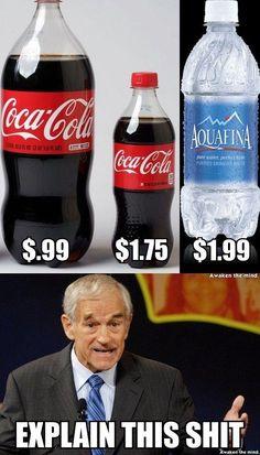 El agua Es mas Costosa que la Gaseosa ¡¡¡
