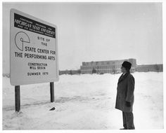 1979 - The construction site of the new performing arts center on Michigan State's campus.