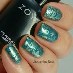 Shelby Lou Nails: Saturday Stamping: Hidden City Lagoon