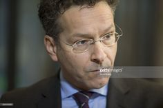 Jeroen Dijsselbloem, Dutch finance minister and head of the group of euro-area finance ministers, pauses as he speaks to journalists ahead of 2016 draft budget roundtable talks in Brussels, Belgium, on Monday, Nov. 23, 2015. Economic activity in the euro area hit a 4 1/2-year high this month, according to a new report that also pointed to weak price pressures. Photographer: Jasper Juinen/Bloomberg via Getty Images