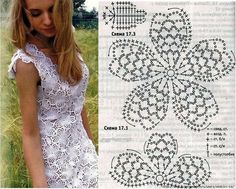 Con flores realizar esta linda blusa playera en colores claros para realzar tu ternura.