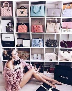 Ideas For Shoe Closet Goals Dressing Rooms Bag Closet, Closet Bedroom, Organizar Closet, Handbag Storage, Handbag Display, Shoe Storage, Storage Room, Walking Closet, Woman Bedroom