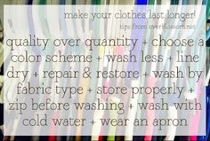 10 Tips to Make Your Clothes Last Longer