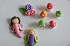 Fairy Fondant Wonderland Toppers for by parkersflourpatch on Etsy, $20.00