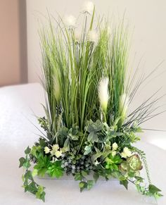 Dekoracja  trawy i sukulenty 1 nr. 167 House Party, Easter, Spring, Plants, Floral Arrangements, Flowers, Atelier, Easter Activities, Home Parties