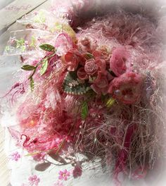 Breast Cancer Awareness knitted nest