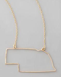 Nebraska State Pendant Necklace