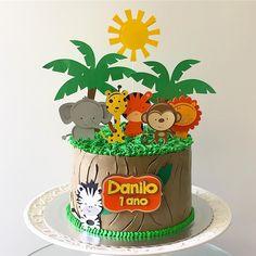 Safari Party, Safari Theme, Bolo Zoo, Brithday Cake, Cupcakes Decorados, Jungle Cake, Pastel Party, Paper Cake, Drip Cakes